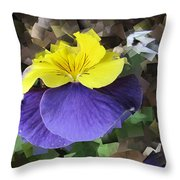 Pansy Squared Throw Pillow