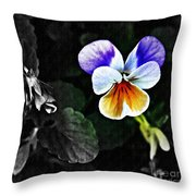 Pansy Statement Throw Pillow