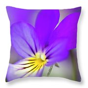 Pansy Violet Throw Pillow