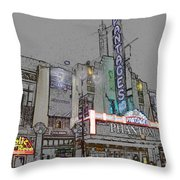 Pantages Theater Hollywood Throw Pillow