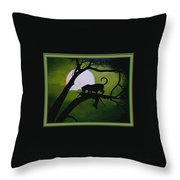 Panther Silhouette - Use Red-cyan 3d Glasses Throw Pillow