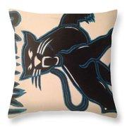 Panthers Nfl Logo Throw Pillow