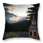 Panza Verde Hotel Roof Top 4 Throw Pillow
