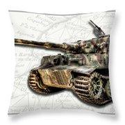 Panzer Tiger I Side Throw Pillow