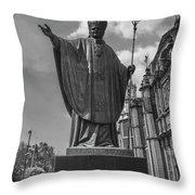 Papa Juan Pablo II - Mexico City Byn Throw Pillow