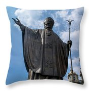 Papa Juan Pablo II - Mexico City II Throw Pillow