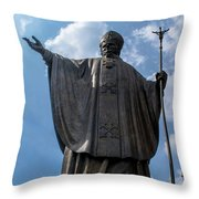 Papa Juan Pablo II - Mexico City IIi Throw Pillow