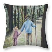 Papa Throw Pillow