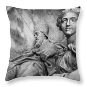 Papal Statues Inside St Peter's Basilica Throw Pillow