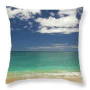 Papaoneone Beach Throw Pillow