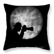 paparazzi silhouette throw pillow