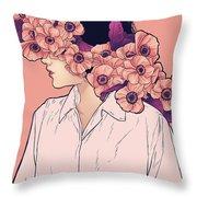 Papaveri Rosa Throw Pillow