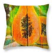 Papaya Dreaming Throw Pillow