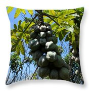 Papayas On A Tree Throw Pillow