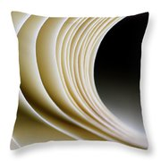 Paper Curl Throw Pillow