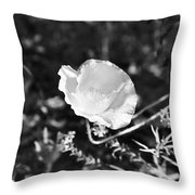 Paper Flower In B And W Throw Pillow