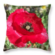 Paper Flower Throw Pillow