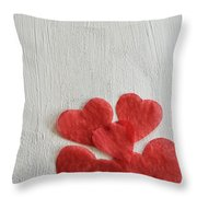 Paper Hearts Throw Pillow