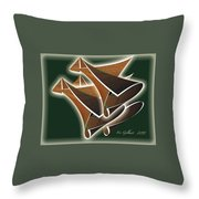 Paper Horns Throw Pillow