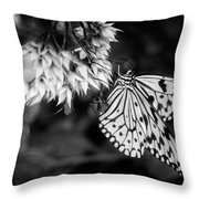 Paper Kite In Black And White Throw Pillow