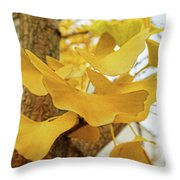 Paper Leaves Throw Pillow
