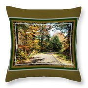 Paper Mill Trail, Framed Throw Pillow