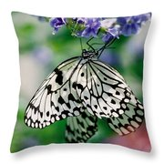 Paper Rice Butterfly Throw Pillow
