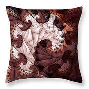 Paper Spiral Throw Pillow