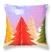 Paper Trees Throw Pillow