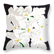 Paperwhites Throw Pillow