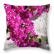 Papery Pink Riot Throw Pillow