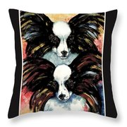 Papillon De Mardi Gras Throw Pillow