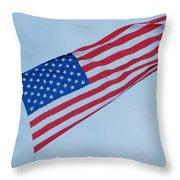 Parachute And Flag Throw Pillow