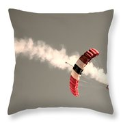 Parachuting In Throw Pillow