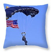 Parachutist Throw Pillow