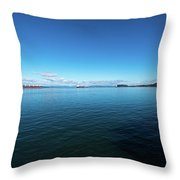 Parade Upriver Throw Pillow