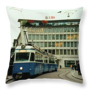 Paradeplatz Zurich Throw Pillow