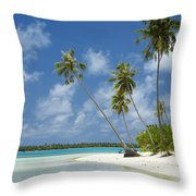 Paradise - Maupiti Lagoon Throw Pillow