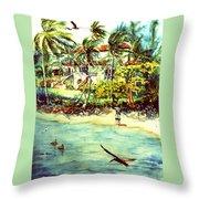 Paradise At Dorado Puerto Rico Throw Pillow