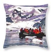 Paradise Bay  Throw Pillow
