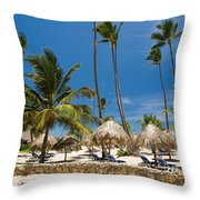 Paradise Beach Throw Pillow