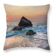 Paradise Beach Sunset Throw Pillow