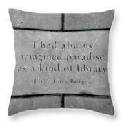 Paradise For Some Throw Pillow