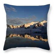 Paradise Harbor Sunset Throw Pillow