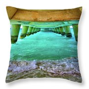 Paradise In Grand Turk Never Ends Throw Pillow