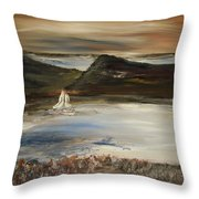Paradise In The Evening Throw Pillow
