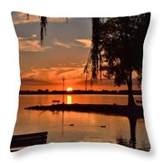 Paradise In Wisconsin Throw Pillow