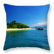Paradise Island Haiti Throw Pillow