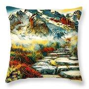 Paradise Mountain Throw Pillow