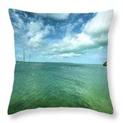 Paradise On Earth, Florida Keys Throw Pillow